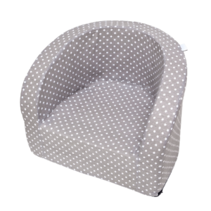 Armchair – Smart, Grey With Small White Dots