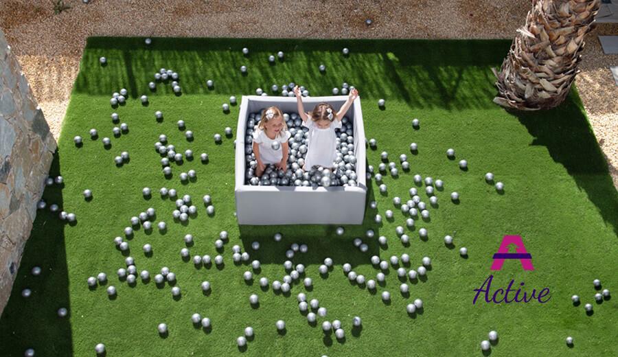 Ball Pool Active – White, 115x50cm